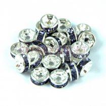 Rondelle ezüst színű - tanzanite - 6mm
