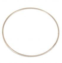 Rondelle ezüst színű - topaz - 6mm