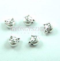 Köztes elem - strasszos - ezüst színű íves - crystal ab - 20x9 mm