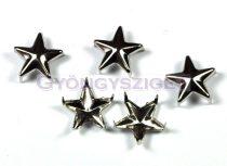 Szegecs - star - platina színű - 12mm
