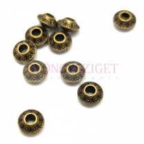 Fémgyöngy - circles - sárgaréz színű - 7mm
