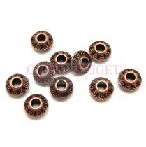 Fémgyöngy - circles - vörösréz színű - 7mm