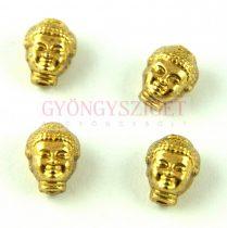 Fémgyöngy - Buddha fej - antik arany színű - 10x8mm