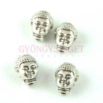 Fémgyöngy - Buddha fej - antik ezüst színű - 10x8mm