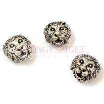Fémgyöngy - oroszlán - antik ezüst színű - 8x13mm