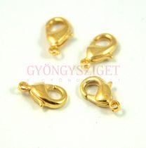 Delfinkapocs - arany színű - 15x8mm - 903