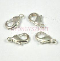 Delfinkapocs - platina színű - 23x14mm - 905