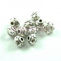 Fémgyöngy - Dots - platina színű - 7x5mm
