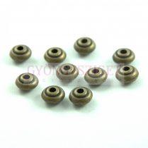 Fémgyöngy - antik sárgaréz színű - 7x4mm
