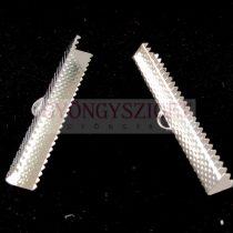 Szalagvég - ezüst színű - 40mm