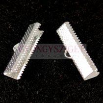 Szalagvég - ezüst színű - 25mm