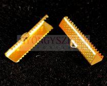 Szalagvég - arany színű - 25mm
