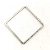 Medál - angyalhívó - világos ezüst színű - 27x31x22mm