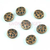 Fémgyöngy - bronz színű - 10mm