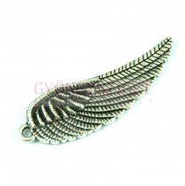 Medál - Szárny - antik ezüst színű - 37x12mm