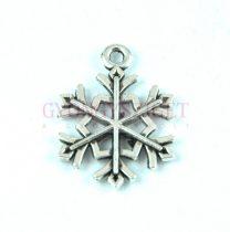 Medál - hópihe - antik ezüst színű - 21x16mm