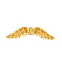 Angyalszárny - arany színű - 12x3mm