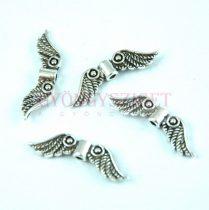 Angyalszárny - antik ezüst színű - 21x7mm