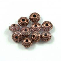Fémgyöngy - rope - bronz színű - 7mm