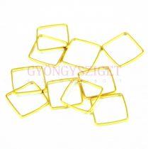Köztes elem - négyzet  - arany színű - 10mm