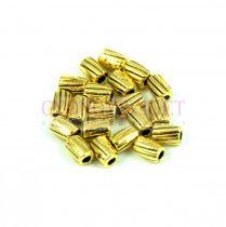 Fémgyöngy - arany színű - 4mm