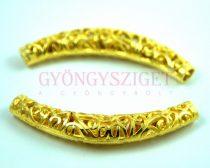 Köztes elem - díszitett cső - arany színű - 66x12x10mm