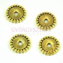 Fémgyöngy - Sun - arany színű - 12mm