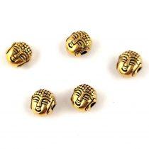 Köztes elem - pillangó - arany színű - cirkóniás - 19x14mm