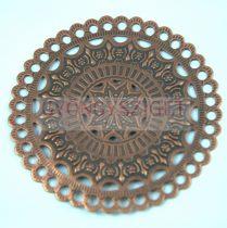 Medál - mandala - antik vörösréz színű - 65mm