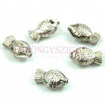 Fémgyöngy - hal - antik ezüst színű - 15x9mm