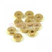 Fémgyöngy - arany színű - 5.5mm