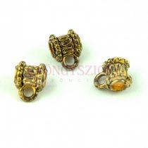 Medálvezető - antik arany színű - 8x10mm