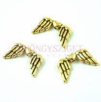Angyalszárny - arany színű - 18x11mm