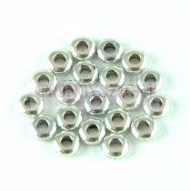 Fémgyöngy - golyó - Donut - ezüst színű - 4.5x2mm