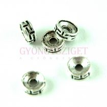 Fémgyöngy - Antique - platina színű - 8x3mm