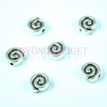 Medál - csiga - antik ezüst színű - 9mm