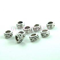 Köztes elem - gyűrű - platina színű  - 6 x 3.5mm