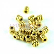 Fémgyöngy - arany színű - 4x4mm