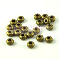 Fémgyöngy - antik sárgaréz színű  - 5.5 x 3mm