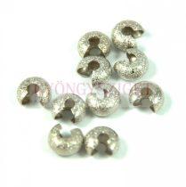 Stopper rejtő - ezüst színű csiszolt - 4mm