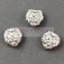 Fémgyöngy - oroszlán - ezüst színű - 8x13mm