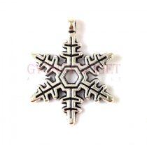 Medál - hópihe - antik ezüst színű - 18x22mm