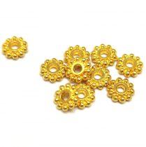 Köztes elem - Beaded Ring - arany színű - 7mm