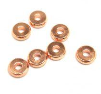 Fémgyöngy - fánk  - rose gold színű - 6x2mm