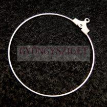 Fülbevaló alap - ezüst színű - 40mm