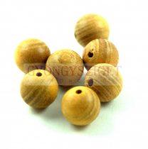 Fa gyöngy - burly wood - világos - 10mm