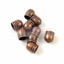 Cord End - Antique Copper Colour - 6mm