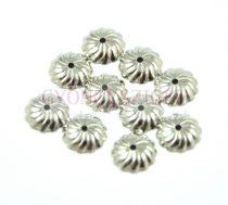 Gyöngykupak - platina színű - 10mm