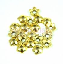 Gyöngykupak - arany színű - Flower - 6mm