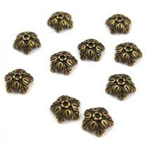 Gyöngykupak - arany színű - Leaves - 5mm